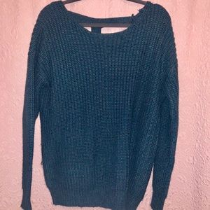 Sweaters - Deep Blue sweater with nice open back detailing